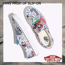 NEW!お早めに!VANS MASH UP SLIP-ON-STICKERS/TRUE WHITE