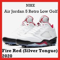 NIKE Air Jordan 5 Retro Low Golf Fire Red Silver Tongue SS20