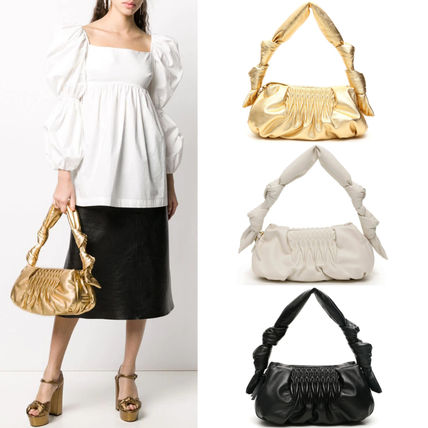 MiuMiu ショルダーバッグ・ポシェット MM1184 NAPPA LEATHER SHOULDER BAG WITH KNOT DETAIL
