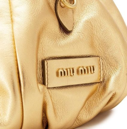MiuMiu ショルダーバッグ・ポシェット MM1184 NAPPA LEATHER SHOULDER BAG WITH KNOT DETAIL(3)