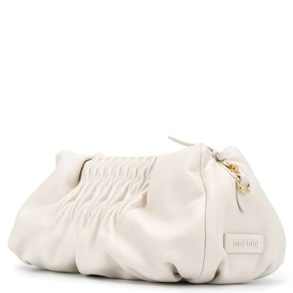 MiuMiu ショルダーバッグ・ポシェット MM1184 NAPPA LEATHER SHOULDER BAG WITH KNOT DETAIL(6)