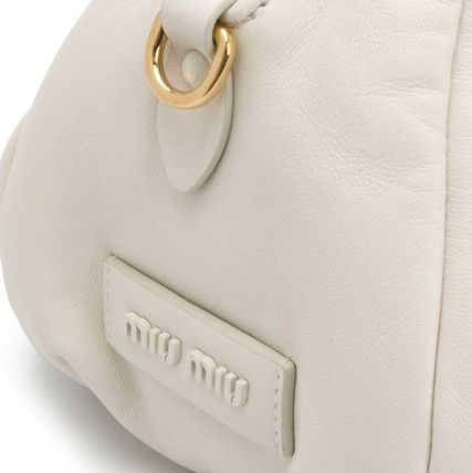 MiuMiu ショルダーバッグ・ポシェット MM1184 NAPPA LEATHER SHOULDER BAG WITH KNOT DETAIL(7)