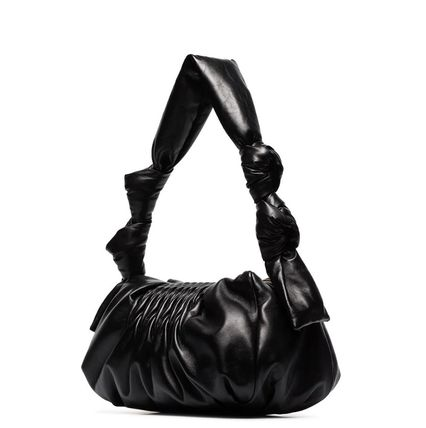 MiuMiu ショルダーバッグ・ポシェット MM1184 NAPPA LEATHER SHOULDER BAG WITH KNOT DETAIL(10)
