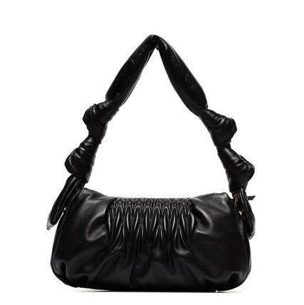 MiuMiu ショルダーバッグ・ポシェット MM1184 NAPPA LEATHER SHOULDER BAG WITH KNOT DETAIL(11)