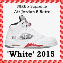 Supreme X NIKE Air Jordan 5 Retro 'White' 2015 FW 15