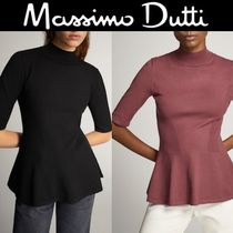 Massimo Dutti SALE!HIGH NECK PEPLUM SWEATER