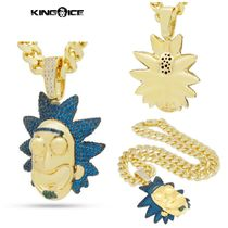 【King Ice】Rick and Morty x King Ice XL Good Rick Necklace