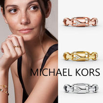 【Michael Kors】Sterling Silver Pave マーサーリング 14k