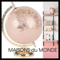 【MAISONS du MONDE】Clemence Rosy 地球儀 Pink and Gold Globe