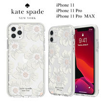 ◆Kate Spade◆iPhone 11, Pro, Pro MAX クリア花柄ケース