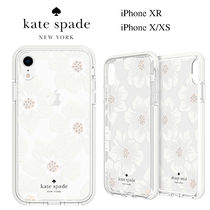 ◆Kate Spade◆iPhone X, XS, XR クリア花柄ケース