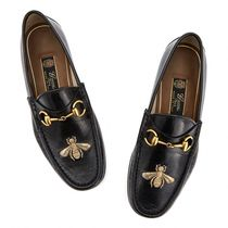 GUCCI Bee ししゅう メンズ革靴 Loafer Black