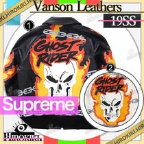 19SS /Supreme Vanson Leathers Ghost Rider Jacket ライダース