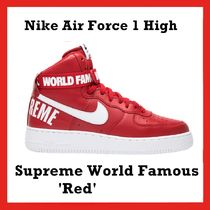 Supreme x Nike Air Force 1 High Supreme World Famous 'Red'