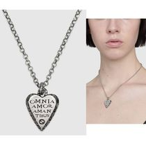 [GUCCI]*Silver necklace with engraved heart ネックレス