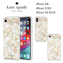 ◆Kate Spade◆iPhone XR, X/XS, XS MAX クリア花柄ケース