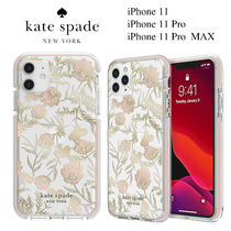 ◆Kate Spade◆iPhone 11,  Pro , Pro MAX クリア花柄ケース
