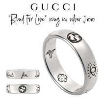 """【GUCCI】""""Blind For Love"""" ring in silver 5mm リング"""