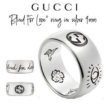 """【GUCCI】""""Blind For Love"""" ring in silver 9mm リング"""