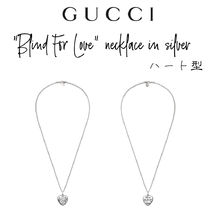 """【GUCCI】""""Blind For Love"""" necklace silver ハート型ネックレス"""