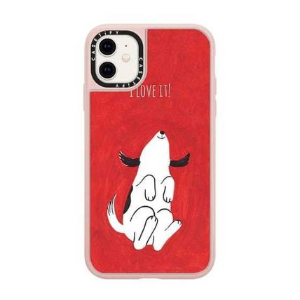 Casetify スマホケース・テックアクセサリー Casetify iphone Grip case♪Puppy on Red♪(14)