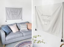 【DECO VIEW】Comfort Lettering Fabric Poster (70*95cm)