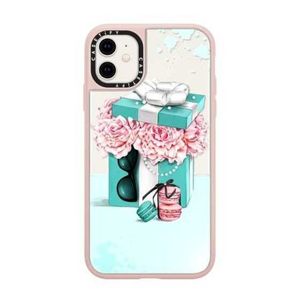 Casetify スマホケース・テックアクセサリー Casetify iphone Grip case♪Gift box with peonies♪(14)