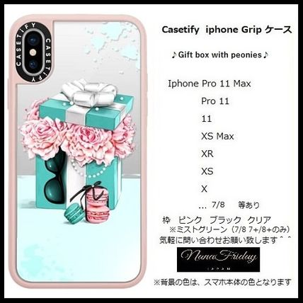 Casetify スマホケース・テックアクセサリー Casetify iphone Grip case♪Gift box with peonies♪