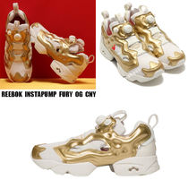 REEBOK★INSTAPUMP FURY CNY★CHALK/GOLD METALLIC/ CHINA RED