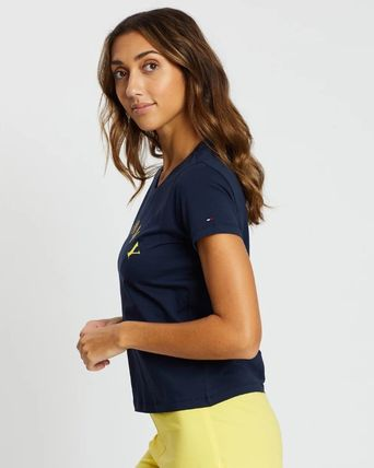 Tommy Hilfiger ルームウェア・パジャマ 【TOMMY HILFIGER】上下セットルームウェア☆ネイビー☆イエロー(4)