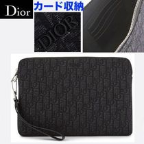 【Diorパリ店】オブリーク柄 ポシェット ダークグレー 追跡付
