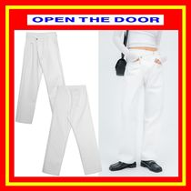 [OPEN THE DOOR] unbalanced wrap white jeans - woman /追跡付
