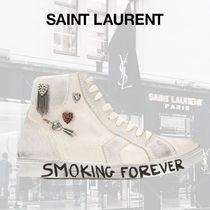 "【SAINT LAURENT】 ""SMOKING FOREVER"" ハイカット スニーカー"