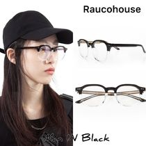 [送料込] Raucohouse◆HALF CLEAR FRAME GLASSES_韓国発