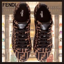 SS20◆FENDI◆LOW TOP IN BROWN FF TECHNICAL FABRIC