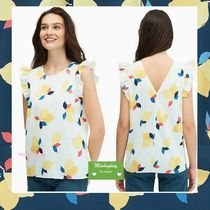 【kate spade】爽やかレモン♪lemon zest sleevelss ruffle top
