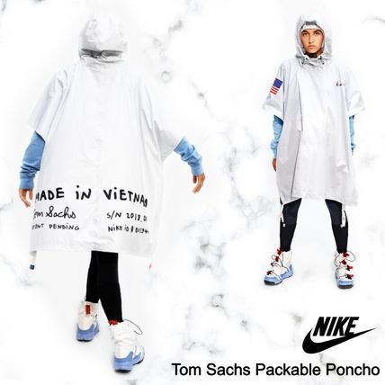 Nike アウターその他 NEW!お早めに!Nike Tom Sachs Packable Poncho in White