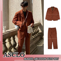 ASCLO★韓国の人気★CAMEL 3BUTTON SUIT SET