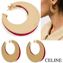 MOUVEMENT MODERNE SPLIT HOOPS IN BRASS WITH GOLD AND PINK