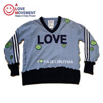 "ALM x Damien Hirst Cashmere Charity V neck sweater ""LOVE"""