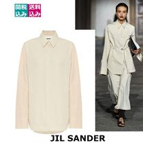 RUNWAY 関税込 JIL SANDER  Cotton-and-silk poplin shirt464716