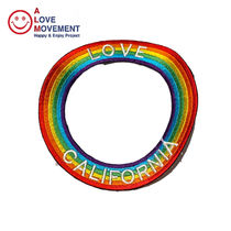 A LOVE MOVEMENT Love California Cercle Patch パッチ