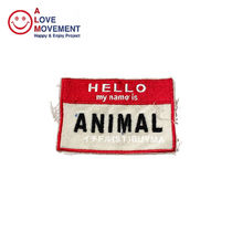 A LOVE MOVEMENT HELLO Animal Patch パッチ