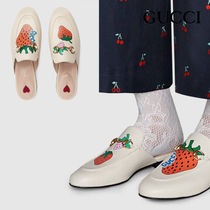 関税負担なし☆GUCCI Princetown slipper with Gucci strawberry