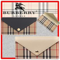送料・関税込☆BURBERRY☆HALTON Vintage Check leather wallet