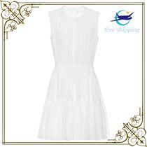Cotton-blend minidress