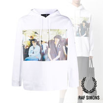 RAF SIMONS x Fred Perry★CHEST PRINT フーディ★コラボ★白