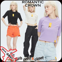 【ROMANTIC CROWN】GNAC ROLLING LOGO KNIT TEE★安全発送 3色