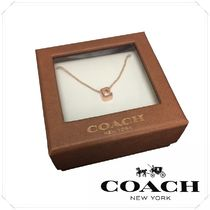 COACH★C Logo Necklace ネックレス ピンクゴールド