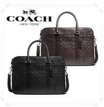Coach★Heritage Slim Briefcase メンズ A4 トートバッグ